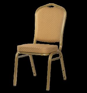 HALLSEAT MX STRONG OGD/BN | Stoličky so starozlatým rámom a poťahom v karamelovej farbe