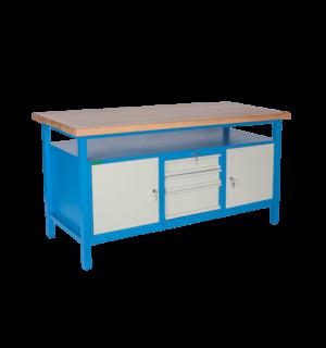 LIGHTBENCH GE 1700 CDC | Pracovný stôl s dvomi skrinkami a zásuvkami