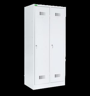 LOCKER M 2 400 | Kovová šatníková skriňa 2-dverová bez prepážok
