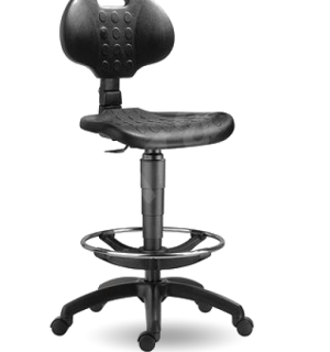 WORKSEAT AN FIX HIGH | Priemyselná stolička s extra dlhým piestom na klzákoch