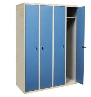 LOCKER AP 4 DOBLO 1740/1200/550 7035/5024 | 4-dverová šatníková skriňa s otváraním do seba