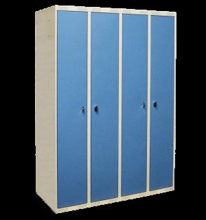 LOCKER AP 4 DOBLO 1740/1200/550 7035/5024 – 4-dverová šatníková skriňa s otváraním do seba, 1740/1400/550 mm