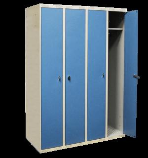 LOCKER AP 4 DOBLO 1740/1200/550 7035/5024 – 4-dverová šatníková skriňa s otváraním do seba, 1740/1200/550 mm