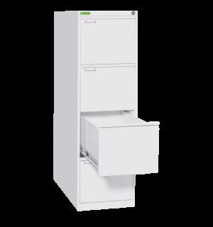 FILECAB K 4 9003 | Kartotéková skriňa so 4 zásuvkami, biela